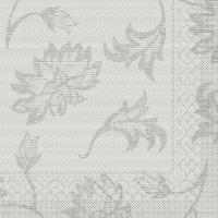 100 Tissue Dinner Servietten - LISBOA grau