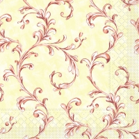 Tissue Servietten 33x33 cm - MANOLA terrakotta-bord.