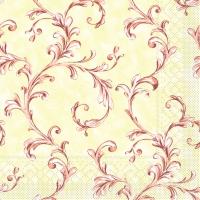 Tissue Dinner Servietten MANOLA terrakotta-bord.