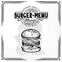 Tissue Servietten 33x33 cm - Burger Menu