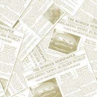 Tissue Servietten 33x33 cm - NEWSPAPER - beige