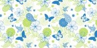 Tischläufer 40 cm x 24 ldm. NATALIE blau-grün