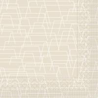 Tissue Servietten 33x33 cm - Tarik (hellgrau)