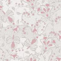 Linclass Servietten 40x40 cm - Dion  (grau/rosa)