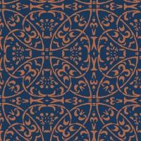 Linclass Servietten 40x40 cm - Claudio (dunkelblau/braun)