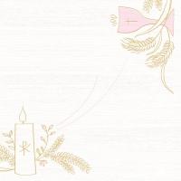 Linclass Servietten 40x40 cm - Kommunion/Bestätigung (rosa/grau)