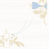 50 Linclass Dinner Servietten - Kommunion/Bestätigung (blau/grau)