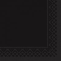 Tissue Servietten 33x33 cm - BASIC  SCHWARZ  33x33 cm 1/4-Falz