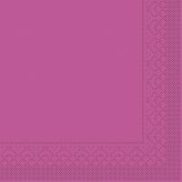 Tissue Servietten 33x33 cm - BASIC  VIOLETT  33x33 cm 1/4 Falz