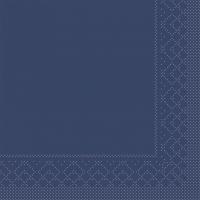 Tissue Servietten 33x33 cm - BAISC  BLAU  33x33 cm 1/4-Falz