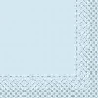 Tissue Servietten 33x33 cm - BASIC  HELLBLAU  33x33 cm 1/4Falz