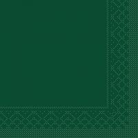 Tissue Servietten 33x33 cm - BASIC  GRÜN  33x33 cm 1/4-Falz