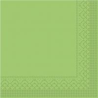 Tissue Servietten 33x33 cm - BASIC  KIWI  33x33 cm 1/4-Falz