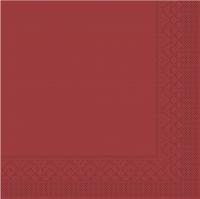 Tissue Servietten 33x33 cm - BASIC  BORDEAUX  33x33 cm 1/4-Falz