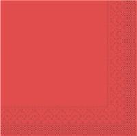 Tissue Servietten 33x33 cm - BASIC  ROT  33x33 cm 1/4-Falz