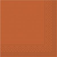 Tissue Servietten 33x33 cm - BASIC  TERRAKOTTA  33x33 cm 1/4 Falz