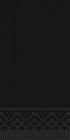 Tissue Servietten 33x33 cm - schwarz