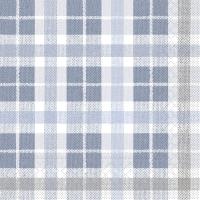 Tissue Servietten 40x40 cm - Fred (blau/dunkelgrau)