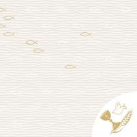 Linclass Servietten 40x40 cm - Kommunion/Bestätigung (Fische)