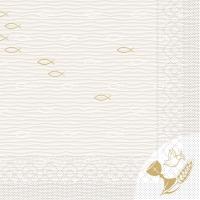 100 Tissue Lunch Servietten - Kommunion/Bestätigung (Fische)