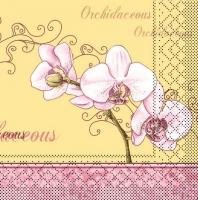 Tissue Servietten 40x40 cm - Orchidee