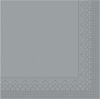 Tissue Servietten 25x25 cm - BASIC  GRAU  25x25 cm