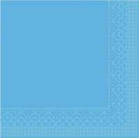 Tissue Servietten 25x25 cm - BASIC  AQUABLAU  25x25 cm