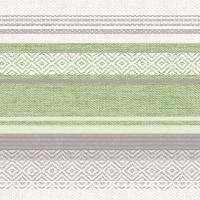 Linclass Servietten 40x40 cm - Lagos (grau/grün)