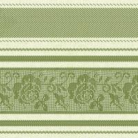 Linclass Servietten 40x40 cm - Ina (Zitrone / Grün)