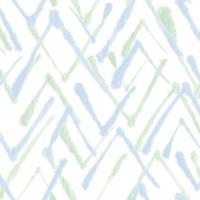 Linclass Servietten 40x40 cm - Zack  (grün/blau)