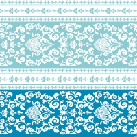 Linclass Servietten 40x40 cm - Pascal (aqua-blau)