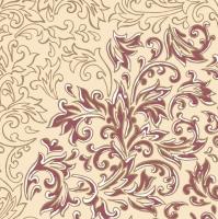 Linclass Servietten 40x40 cm - Delia  (creme/bordeaux)