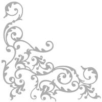 Linclass Servietten 40x40 cm - Pomp (weiß/silber)