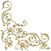 Linclass Servietten 40x40 cm - Pomp (Weiss/Gold)