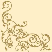 Linclass Servietten 40x40 cm - Pomp (gold/creme)