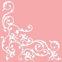 Linclass Servietten 40x40 cm - Pomp (Rosa/Weiß)