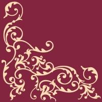 Linclass Servietten 40x40 cm - Pomp (Bordeaux/Creme)