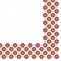 Linclass Servietten 40x40 cm - Art-Deco-Circles  (gold/bordeaux)