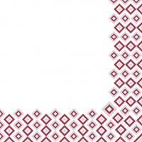 Linclass Servietten 40x40 cm - Art-Deco (bordeaux/grau)