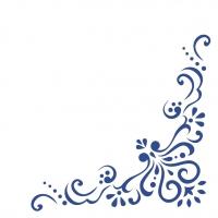 50 Linclass Dinner Servietten - Mila (blau)