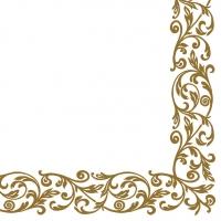 Linclass Servietten 40x40 cm - Rob (Gold)