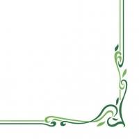 Linclass Servietten 40x40 cm - Farblinie (grün)