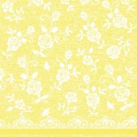 Linclass Servietten 40x40 cm - Spitze (gelb)