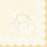 Linclass Servietten 40x40 cm - Franziska (beige)