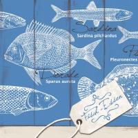 Linclass Servietten 40x40 cm - Fisch-Essen