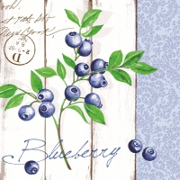 Linclass Servietten 40x40 cm - Blueberry