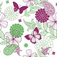 Linclass Servietten 40x40 cm - Natalie (rosa/grün)