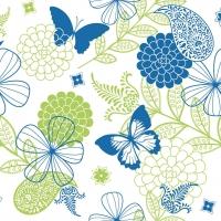 Linclass Servietten 40x40 cm - Natalie (blau/grün)