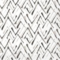 Tissue Servietten 33x33 cm - ZACK  (grau/schwarz)