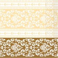 Tissue Servietten 33x33 cm - Pascal (gold/creme)
